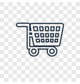 trolley concept linear icon isolated on vector image vector image