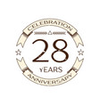 twenty eight years anniversary celebration logo vector image vector image