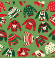 ugly christmas sweaters seamless pattern vector image