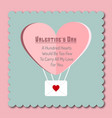 valentines card with heart and typographic vector image