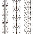 Vintage decorative set outline black floral vector image vector image