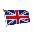 waving in wind flag of great britain on pole vector image