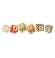 Word TALENT written with alphabet blocks vector image