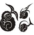 Zodiac Signs - aries Vinyl-ready set vector image vector image