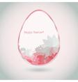 Easter egg pink pale greeting card flower petal vector image