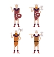 Set of Barbarians vector image