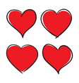 Set of Hand Drawn Hearts design elements vector image