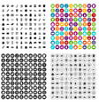 100 contribution icons set variant vector image vector image