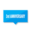 3rd anniversary price tag vector image