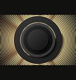 abstract golden black poster or banner golden vector image vector image