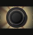 abstract golden black poster or banner golden vector image