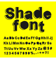 Abstract shade font vector image vector image