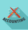 accounting pen logo flat style