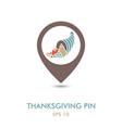 autumn cornucopia mapping pin icon harvest vector image vector image