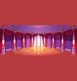 ballroom interior in medieval royal castle vector image vector image