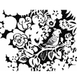 Beautiful monochrome black and white flower vector image vector image