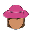 beautiful woman hat vector image vector image