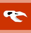bird skull head crow skeleton vector image vector image