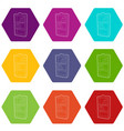 bookcase icons set 9 vector image