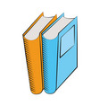 books library read learn vector image