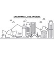 california los angeles architecture line skyline vector image vector image
