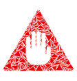 caution collage of triangles vector image
