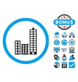 City Flat Icon with Bonus vector image