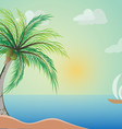 Coconut Tree with beach vector image vector image