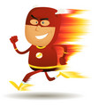 comic fast running superhero vector image