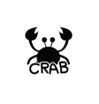 crab animal silhouette vector image vector image