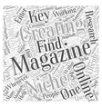 Creating online business magazines Word Cloud vector image vector image