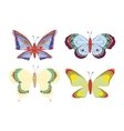 Cute cartoon butterflies set vector image vector image