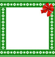 cute christmas or new year border with rhombus vector image vector image