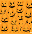 cute pumpkin seamless pattern vector image
