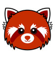 cute red panda cute animal faces vector image vector image