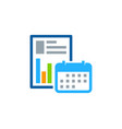 date report logo icon design vector image vector image