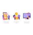e-commerce marketplace concept metaphors vector image vector image