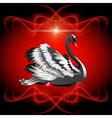 Elegant black swan vector image vector image