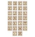 elegant letter alphabet vintage capital vector image