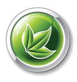 environmental glossy button vector image vector image