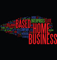 establish your home based business text vector image vector image