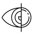 eye contact lens icon outline style vector image vector image