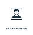 face recognition icon premium style design from vector image