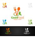 good food logo for restaurant or cafe vector image vector image
