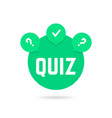 green quiz icon with speech bubble vector image