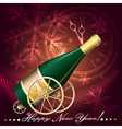 Greeting Card with Champagne vector image