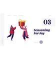happy friends greetings website landing page vector image