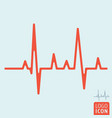 heartbeat line icon vector image vector image