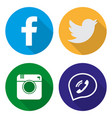 icons for social networking in flat vector image vector image