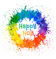 indian festival happy holi vector image vector image